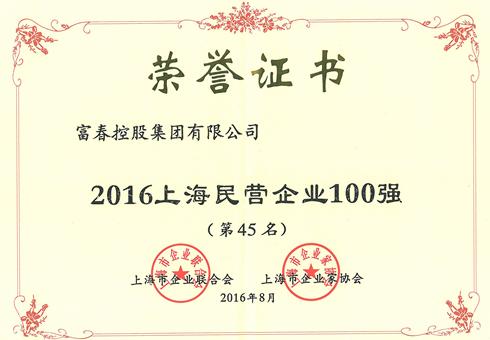 2016上海民营企业100强