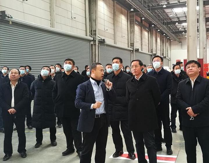 九江全市县域经济巡回看变化考察团走进网营物联九江供应链中心